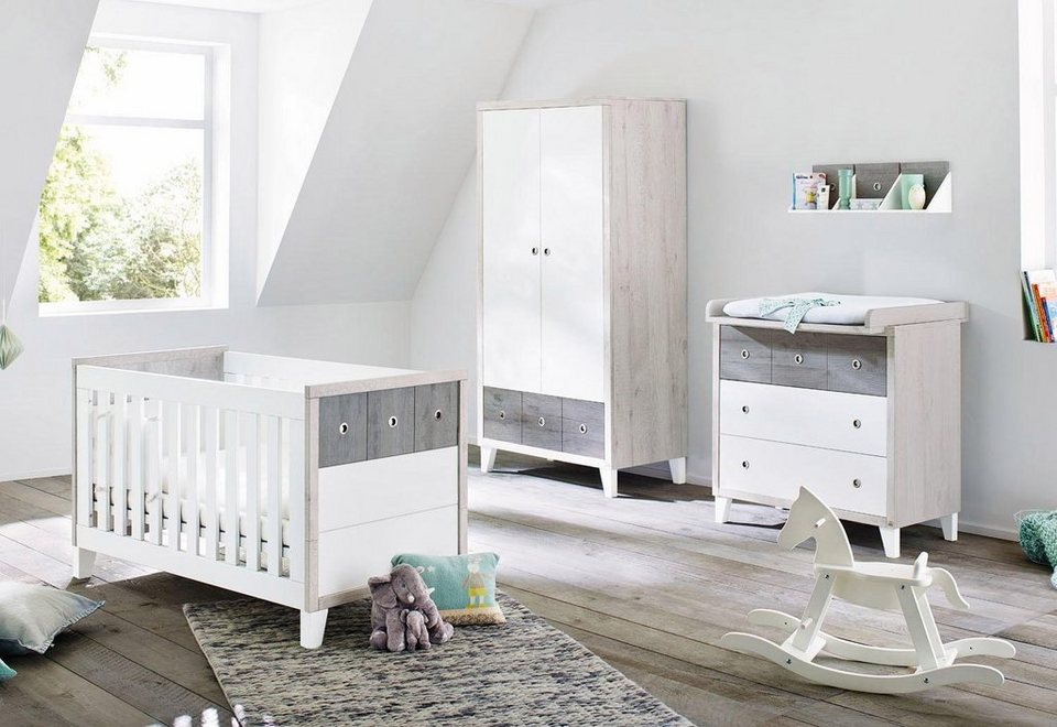 pinolino babyzimmer set 3 tlg kinderzimmer harper breit online kaufen otto. Black Bedroom Furniture Sets. Home Design Ideas