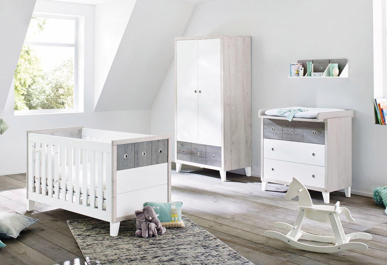 Pinolino Babyzimmer Set (3-tlg) Kinderzimmer, »Harper breit«