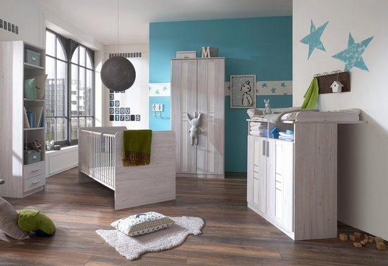 babyzimmer komplettset pellworm 3 tlg bett. Black Bedroom Furniture Sets. Home Design Ideas