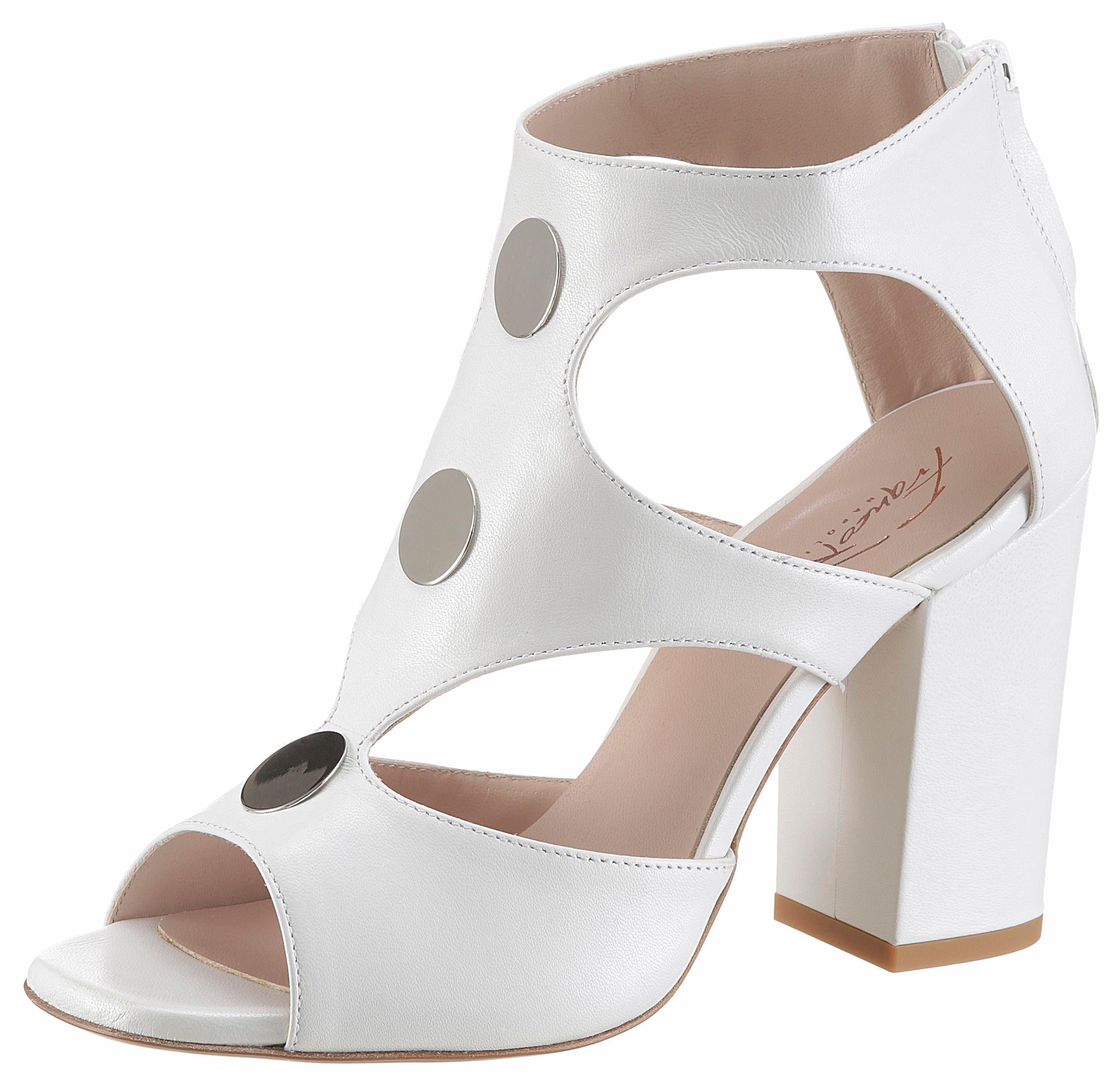 Franco Russo High-Heel-Sandalette, mit goldfarbenen Elementen online kaufen  weiß