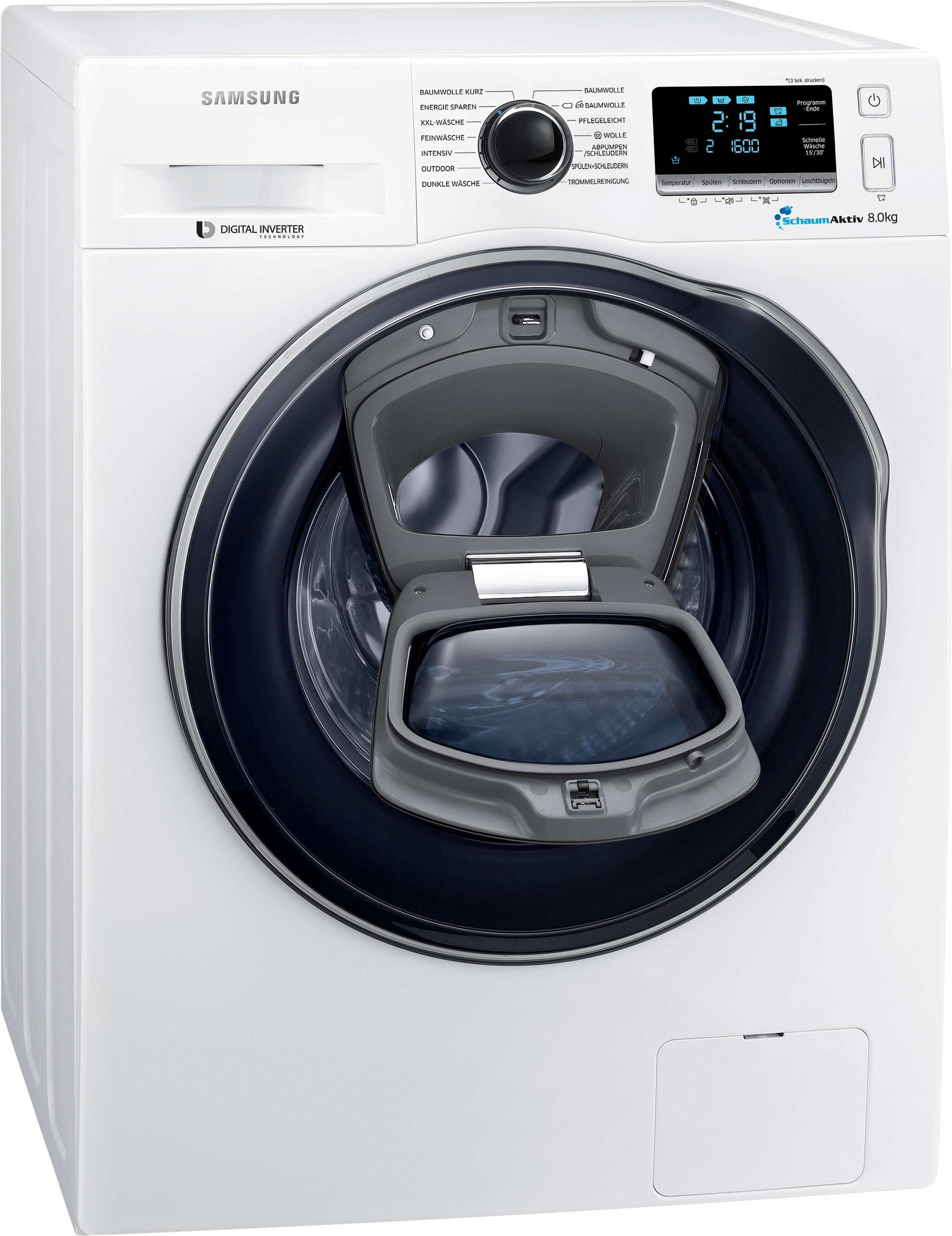 Samsung Waschmaschine WW8GK6400QW/EG, 8 kg, 1400 U/Min