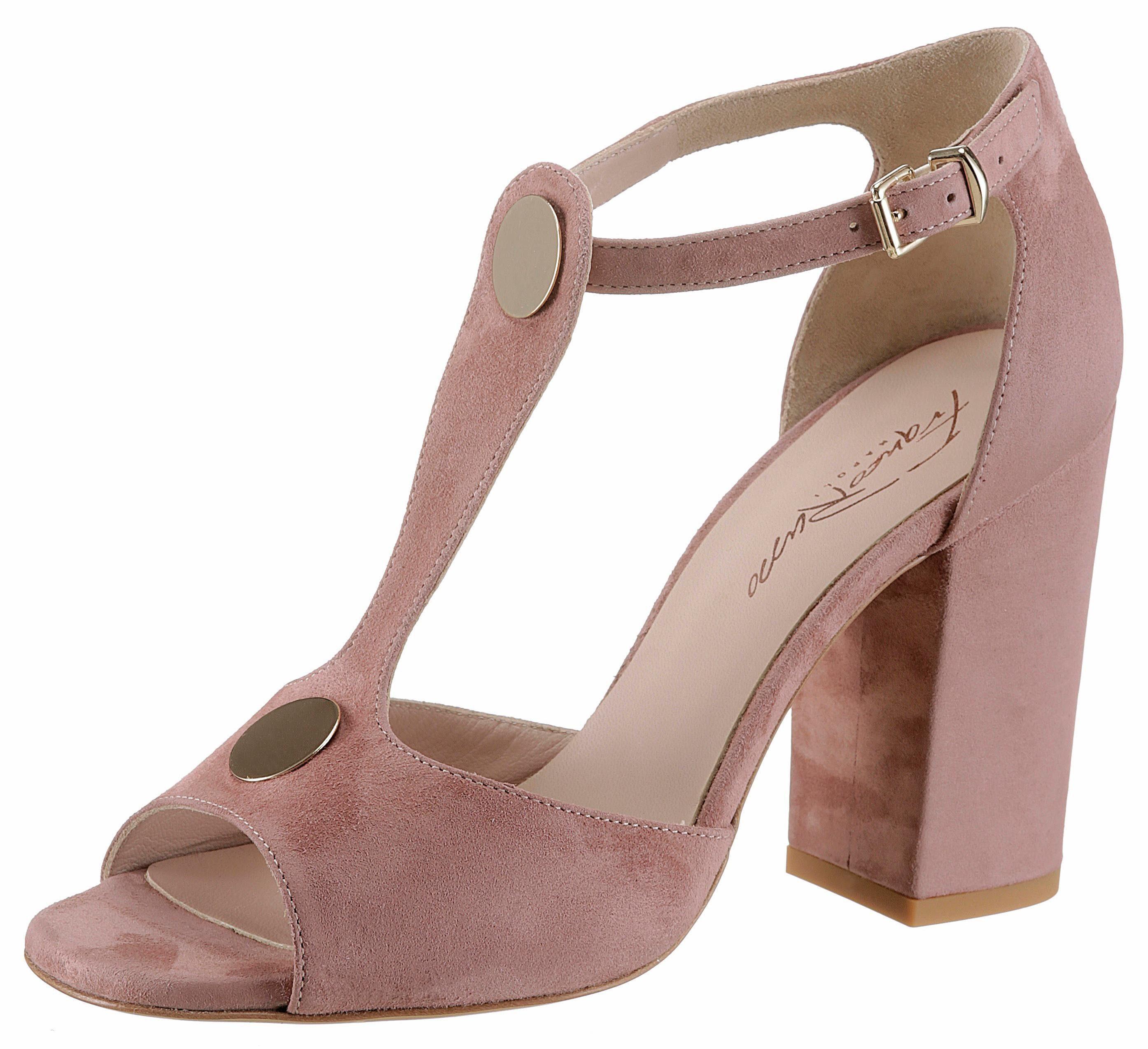 Franco Russo High-Heel-Sandalette, mit dezenten Schmuckelement online kaufen  altrosa