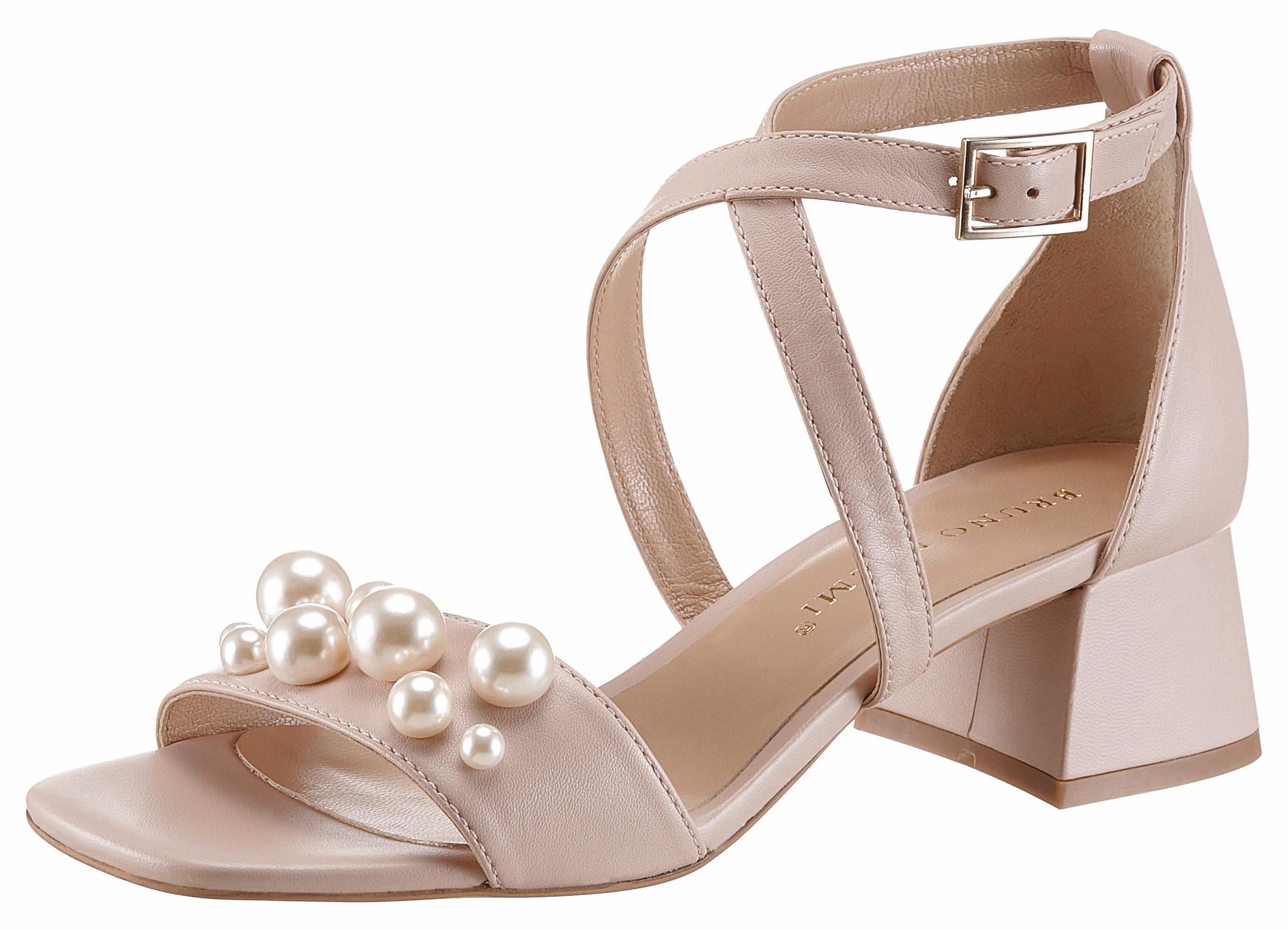 Bruno Premi Sandalette, mit feiner Perlenverzierung online kaufen  nude