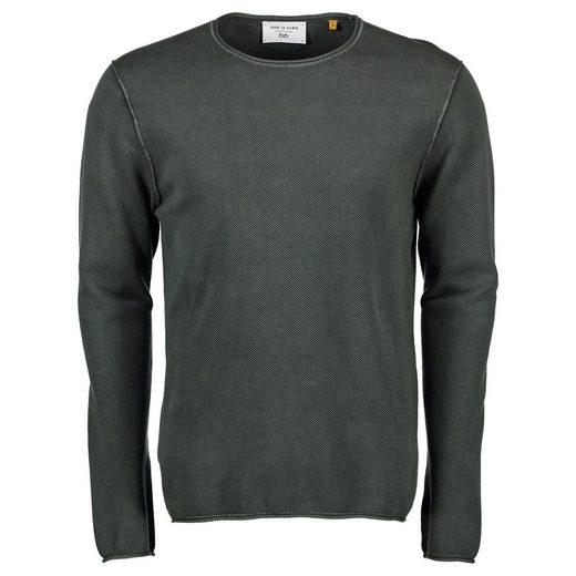NEW IN TOWN Pullover aus Minimal-Waffel-Strick