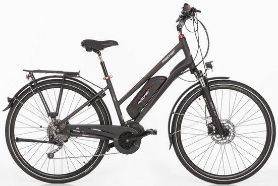 FISCHER Damen Trekking E-Bike, 48 V/250 W Mittelm., 28 Z., 9-Gang-Shimano Schaltwerk, »ETD 1820 Ready« Modell 2018
