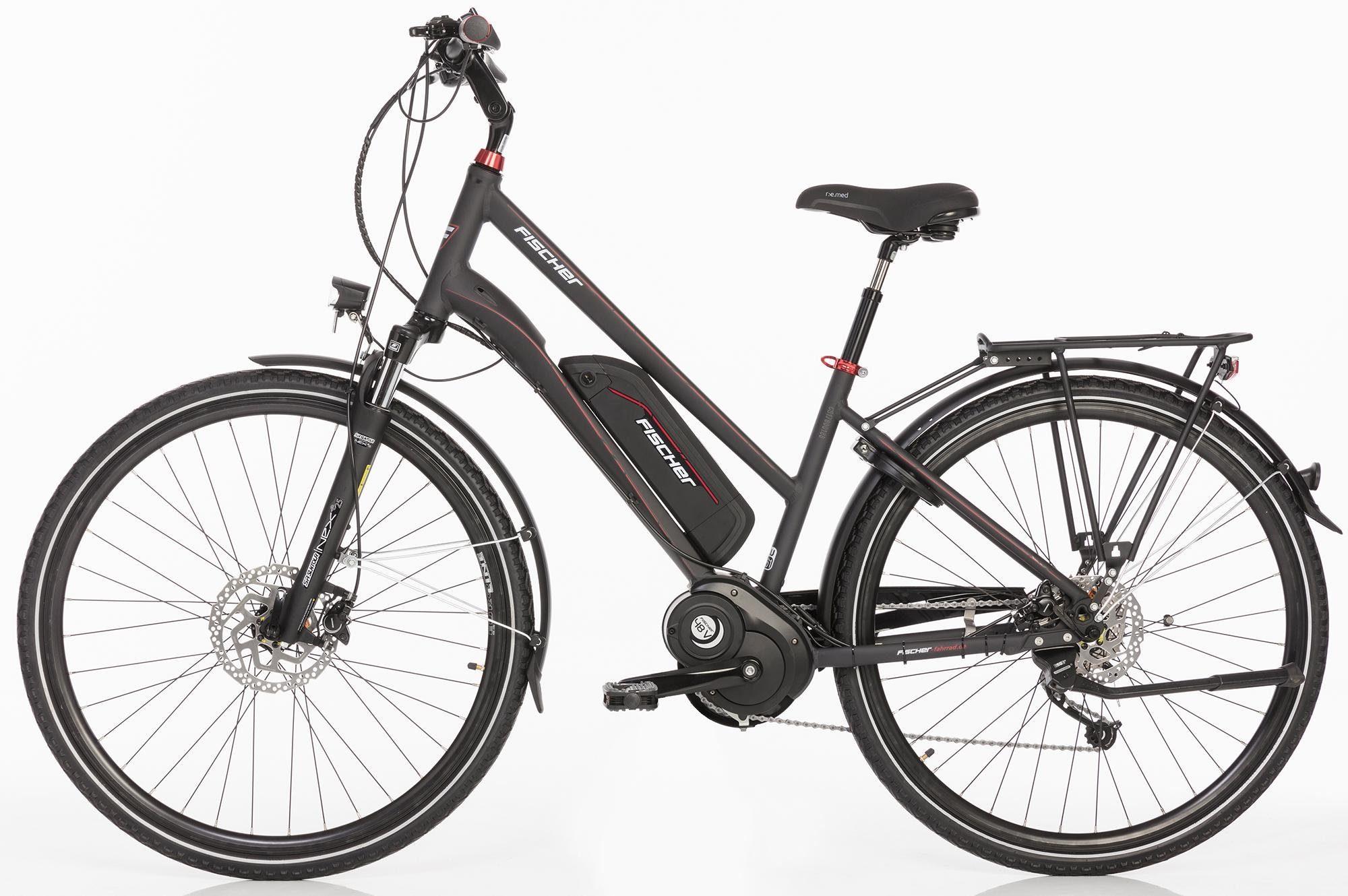 FISCHER Damen Trekking E-Bike, 48 V/250 W Mittelm., 28 Z., 9-Gang-Shimano Schaltwerk, »ETD 1820 Ready«