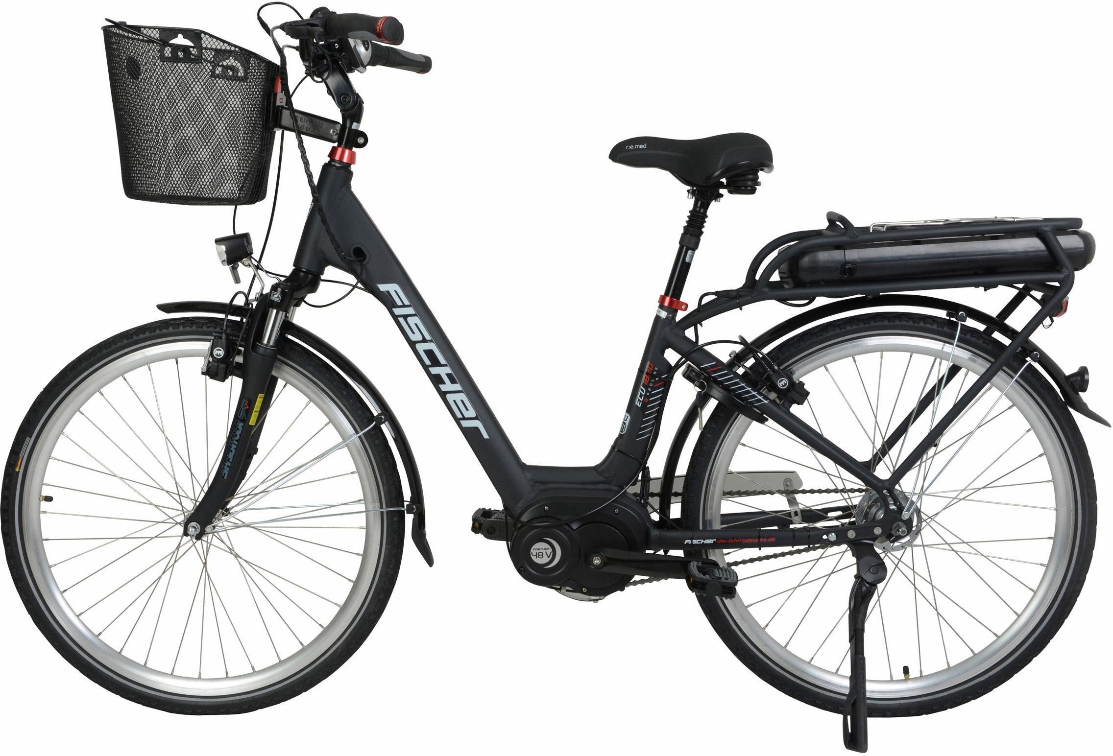 FISCHER City E-Bike, 48 V/250 W Mittelmotor, 28 Z., 7-G.-Shimano Nabenschaltung, »ECU 1820 Ready« Modell 2018