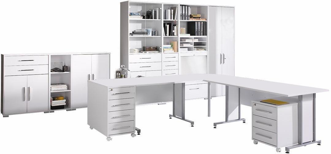 Maja Möbel Büromöbel-Set »1208 SYSTEM« (12-tlg.) | Büro > Büromöbel-Serien | Weiß | Kunststoff - Abs - Metall | Maja Möbel