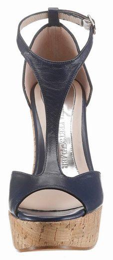 GUIDO MARIA KRETSCHMER Sandalette, mit Keilabsatz in Korkoptik