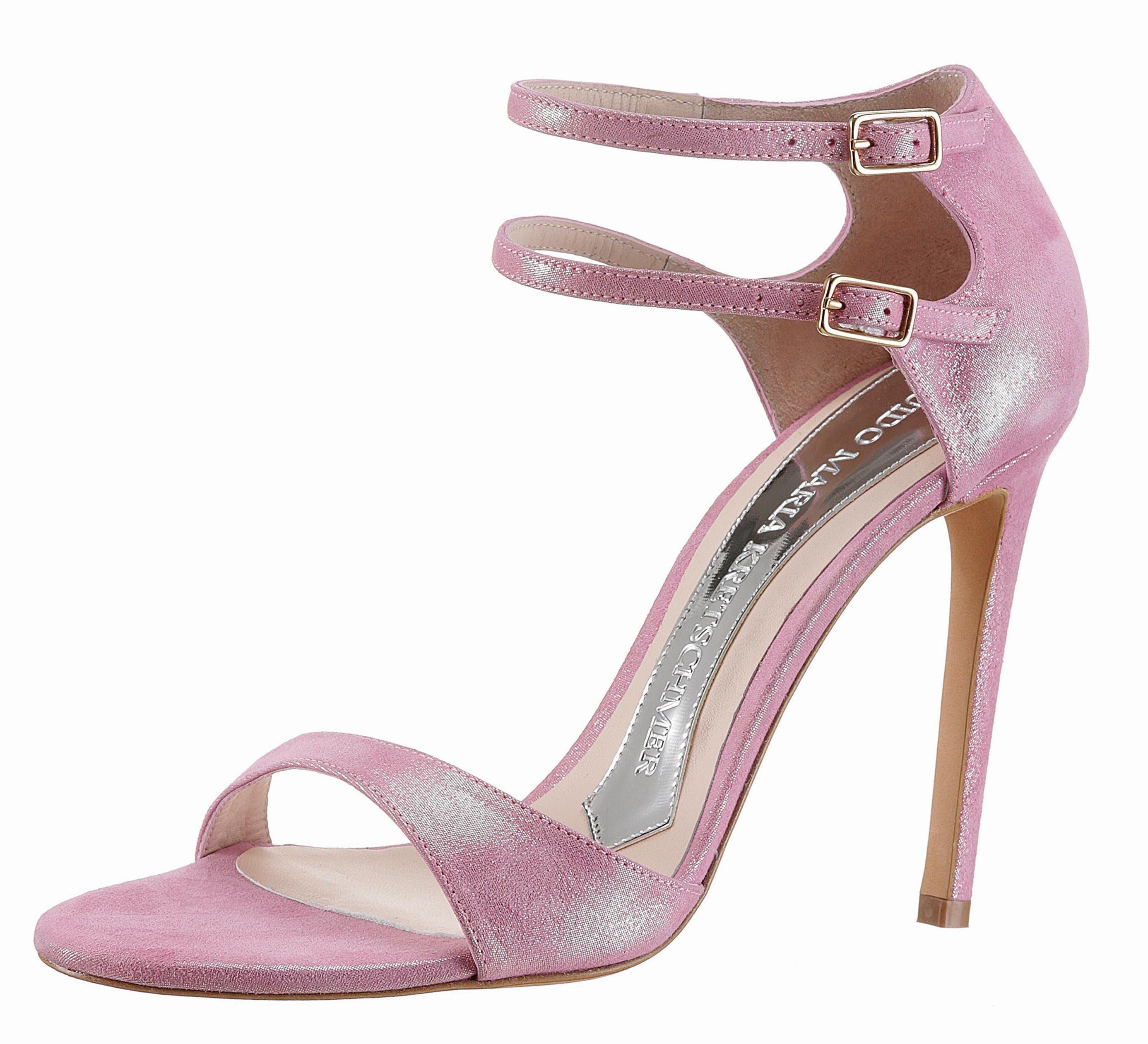 GUIDO MARIA KRETSCHMER Sandalette, in festlicher Metallicoptik online kaufen  rosa