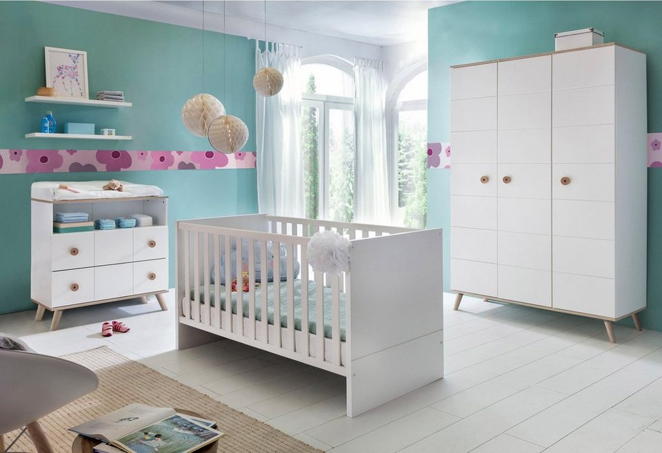 komplett babyzimmer cannes babybett wickelkommode 3. Black Bedroom Furniture Sets. Home Design Ideas