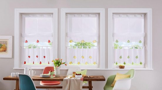 Raffrollo »Fruits«, Home affaire, mit Schlaufen