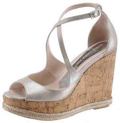 GUIDO MARIA KRETSCHMER Sandalette mit angesagtem Metalliceffekt