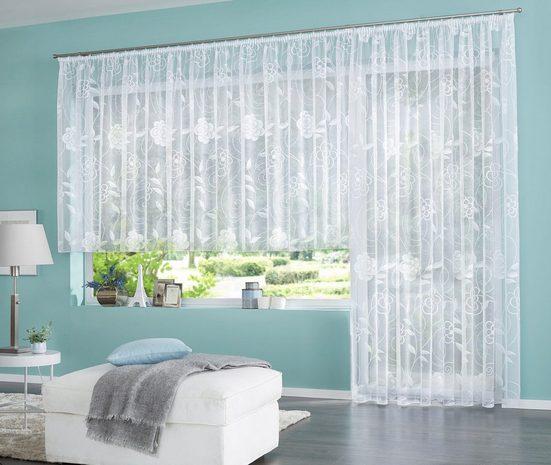 Gardine »Maddy«, my home, Kräuselband (1 Stück), Vorhang, Fertiggardine, Store, transparent