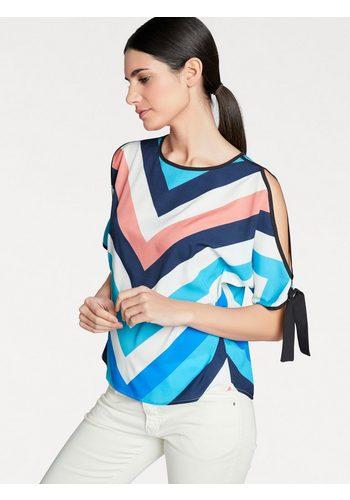 Damen heine STYLE Bluse mit stylischen Cutouts bunt,mehrfarbig | 08698269331878