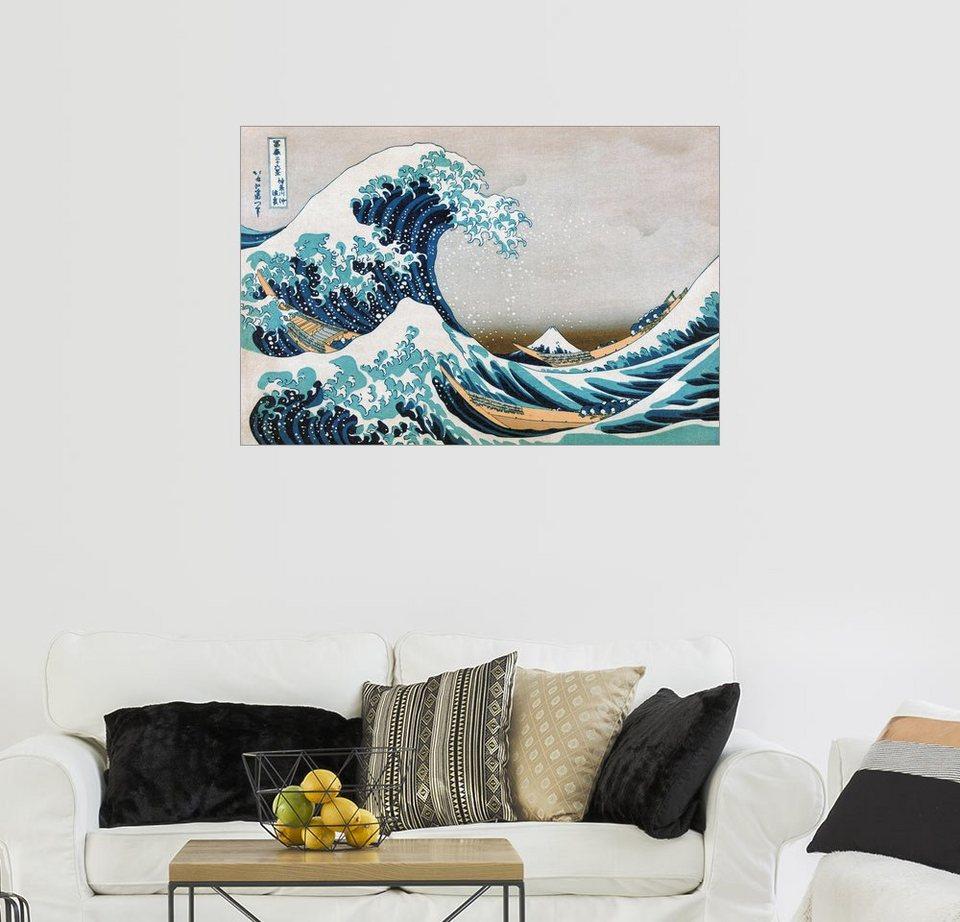 Posterlounge Wandbild Katsushika Hokusai Die Große Welle Von