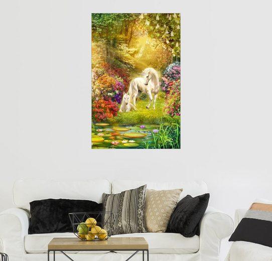 Posterlounge Wandbild - Jan Patrik Krasny »Einhörner im Garten«