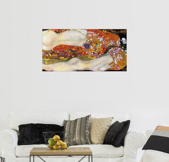 Posterlounge Wandbild - Gustav Klimt »Wasserschlangen II (Freundinnen)«