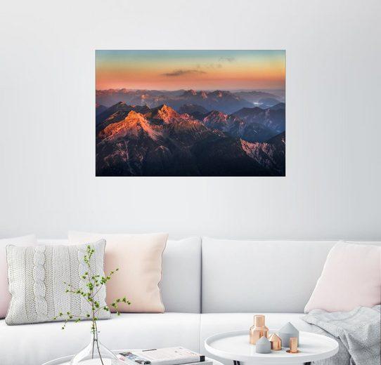 Posterlounge Wandbild - Andreas Wonisch »Alpen Panorama von der Zugspitze zum Sonnenau...«