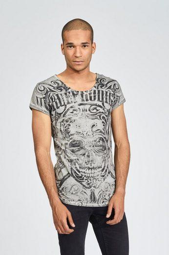 trueprodigy T-Shirt Black skull vintage