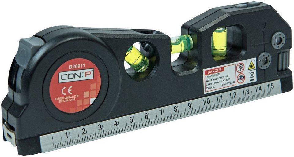 Con:p laser wasserwaage zur genauen durchführung von präzisen