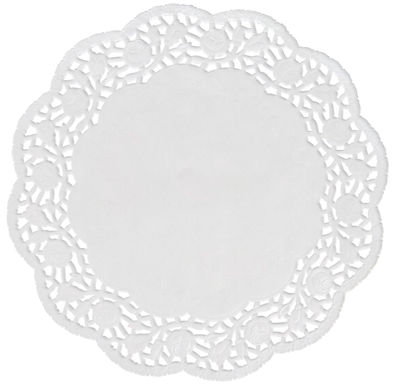 VBS Papier Spitzendeckchen weiß ca. Ø 15,5cm 50 Stück