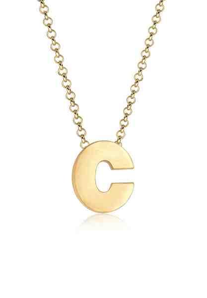 Elli Halskette »Buchstabe C Initialen Trend Minimal 925 Silber«