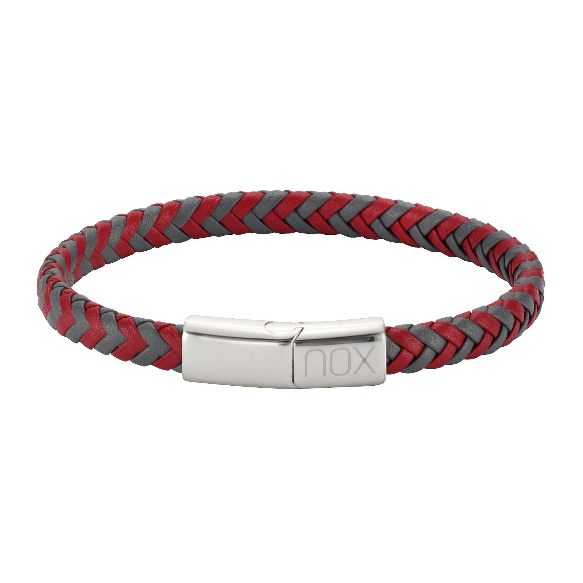 NOX Armband »Edelstahl Leder« | Schmuck > Armbänder > Sonstige Armbänder | Rot | NOX