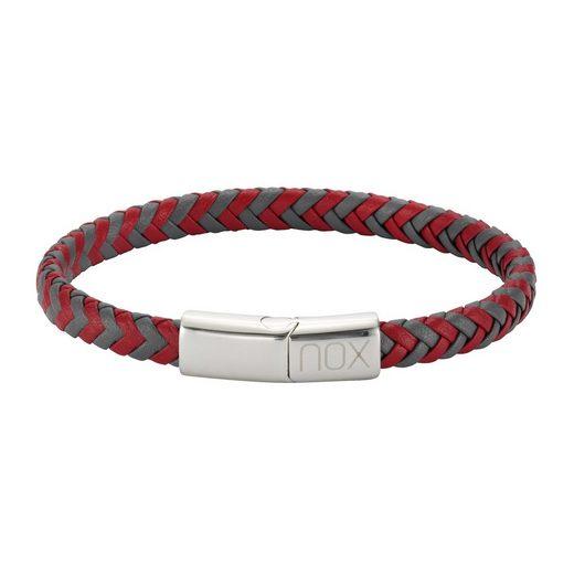 NOX Armband »Edelstahl Leder«