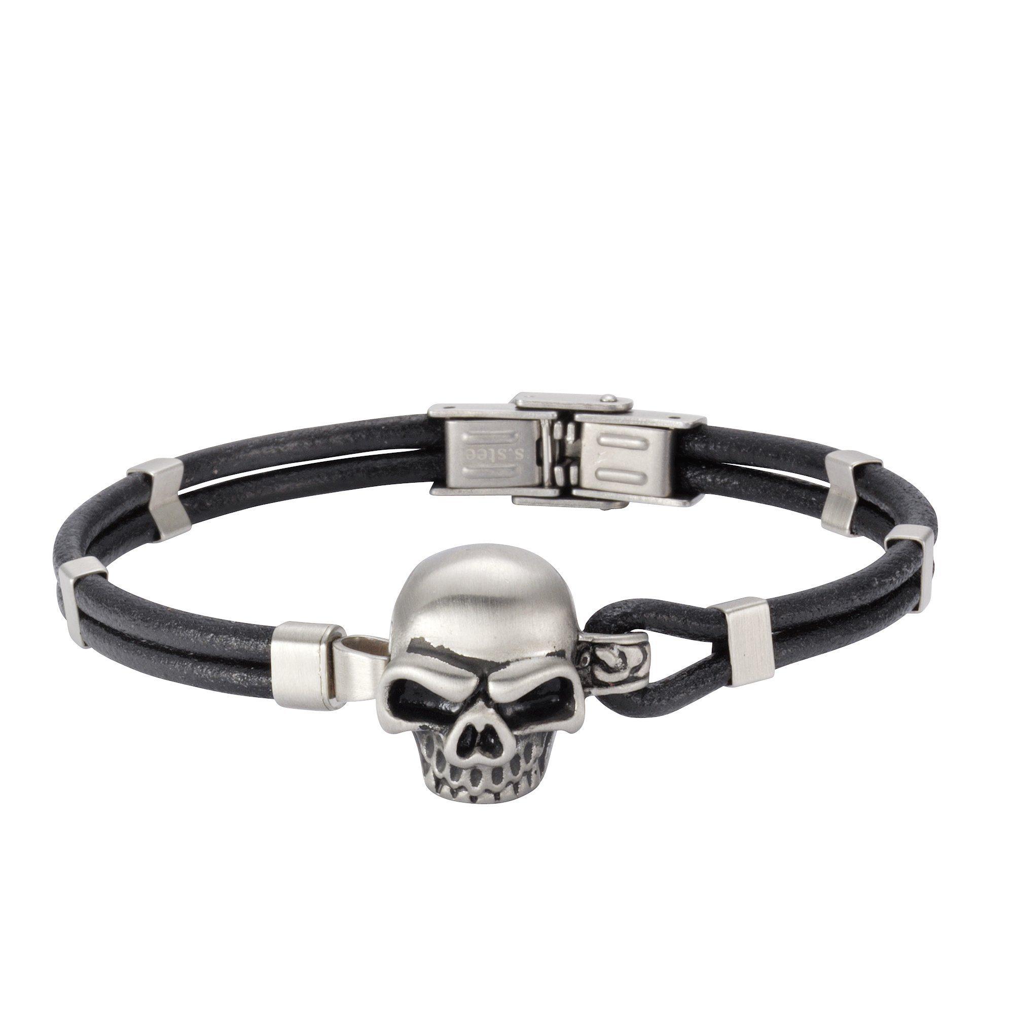 NOX Armband »Leder Edelstahl«