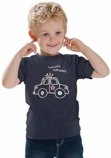 KIDSWORLD T-Shirt »Polizeiauto« Druck