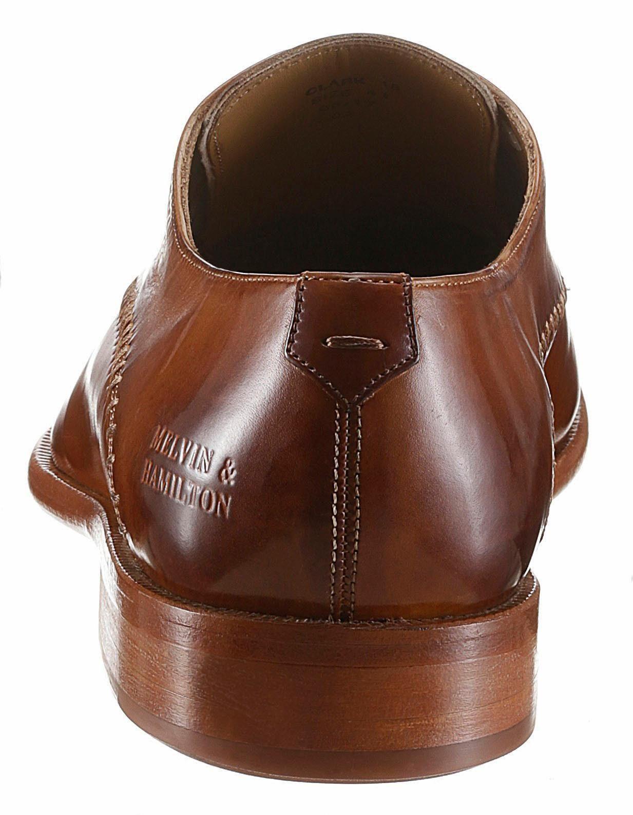 Melvin & Hamilton Clark 18 Schnürschuh, mit stylischem Lasercut auf dem Blatt online kaufen  cognac-used