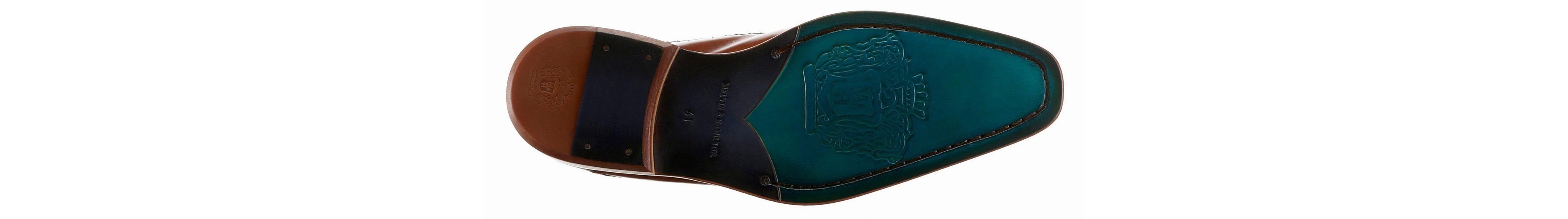 Melvin & Hamilton Clark 18 Schnürschuh, mit stylischem Lasercut auf dem Blatt