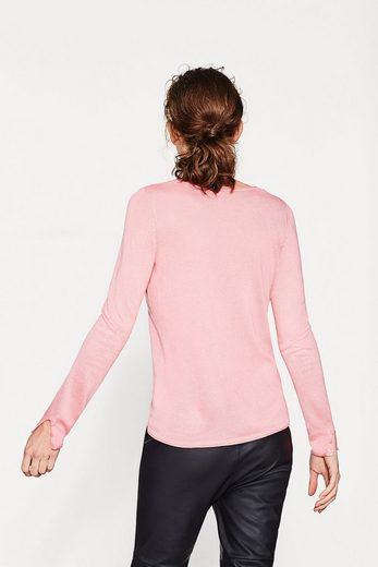 ESPRIT Leichter Pullover mit Ärmelschlitzen