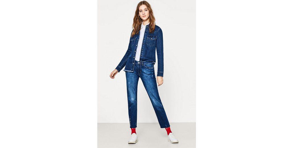 EDC BY ESPRIT Ankle-Stretch-Jeans mit Stickerei Rabatt Großer Rabatt V78Rf06DL