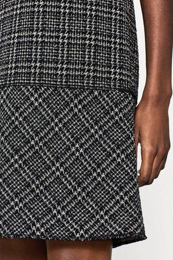 ESPRIT COLLECTION Stretch-Kleid mit Karo-Hahnentritt-Muster