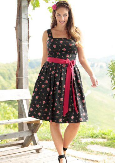 Love Nature Trachtenkleid Damen mit modischem Bindegürtel
