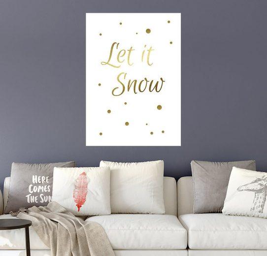 Posterlounge Wandbild - Finlay and Noa »Lass es schneien«