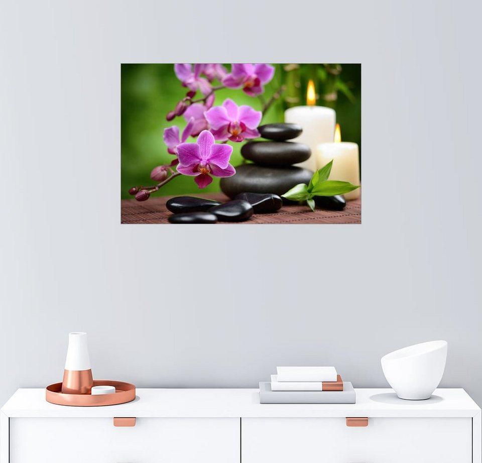 posterlounge wandbild wellness stillleben mit orchideen online kaufen otto. Black Bedroom Furniture Sets. Home Design Ideas