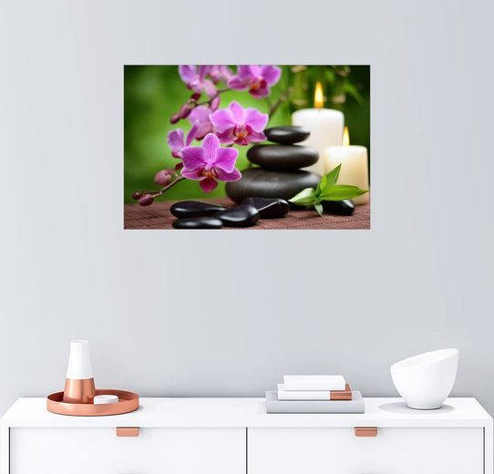 Posterlounge Wandbild »Wellness-Stillleben mit Orchideen«