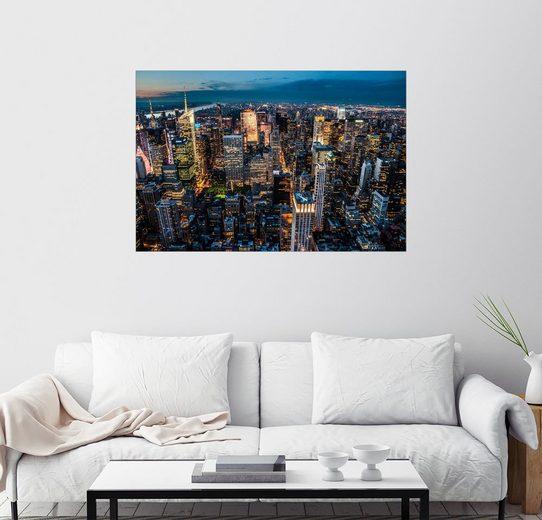 Posterlounge Wandbild - Hannes Cmarits »New York - Lichtermeer«