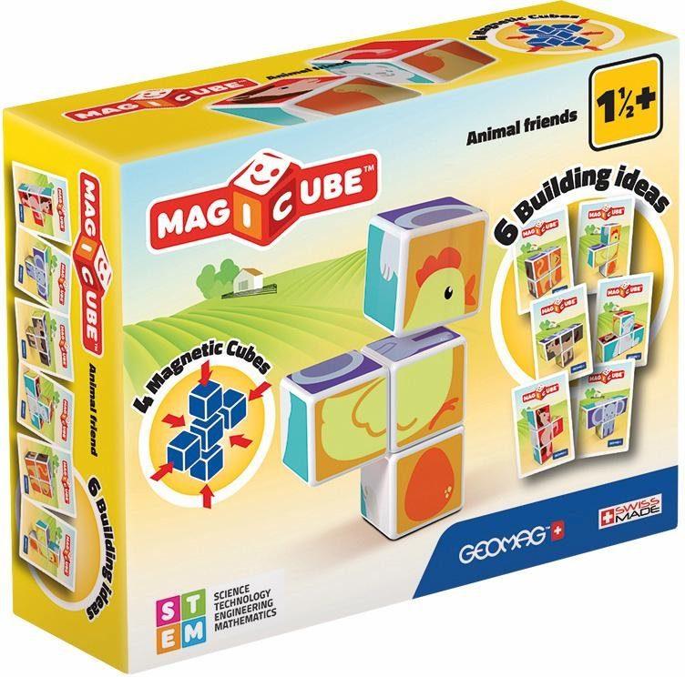 Geomag™ Konstruktionsspielzeug (7-tlg.), »MAGICUBE Animal Friends«