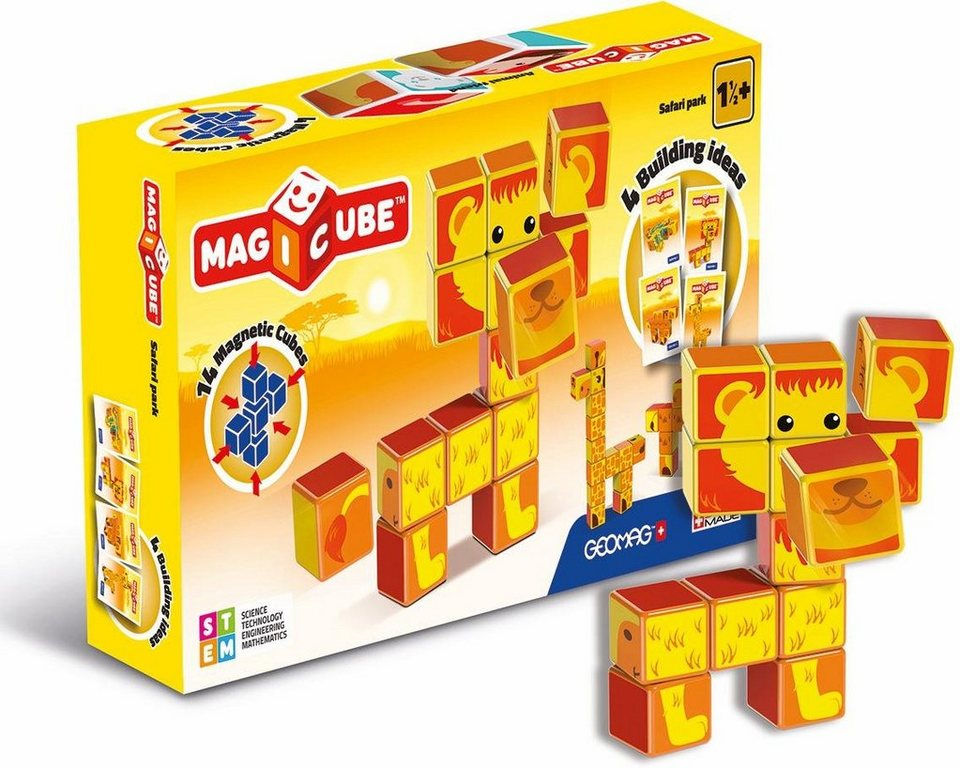 Geomag™ Konstruktionsspielzeug (16-tlg.),  MAGICUBE Safari Park  online kaufen