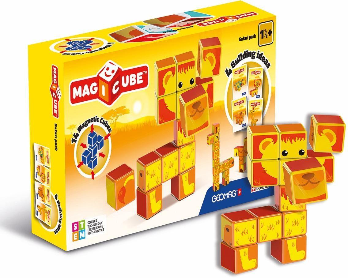 Geomag™ Konstruktionsspielzeug (16-tlg.), »MAGICUBE Safari Park«