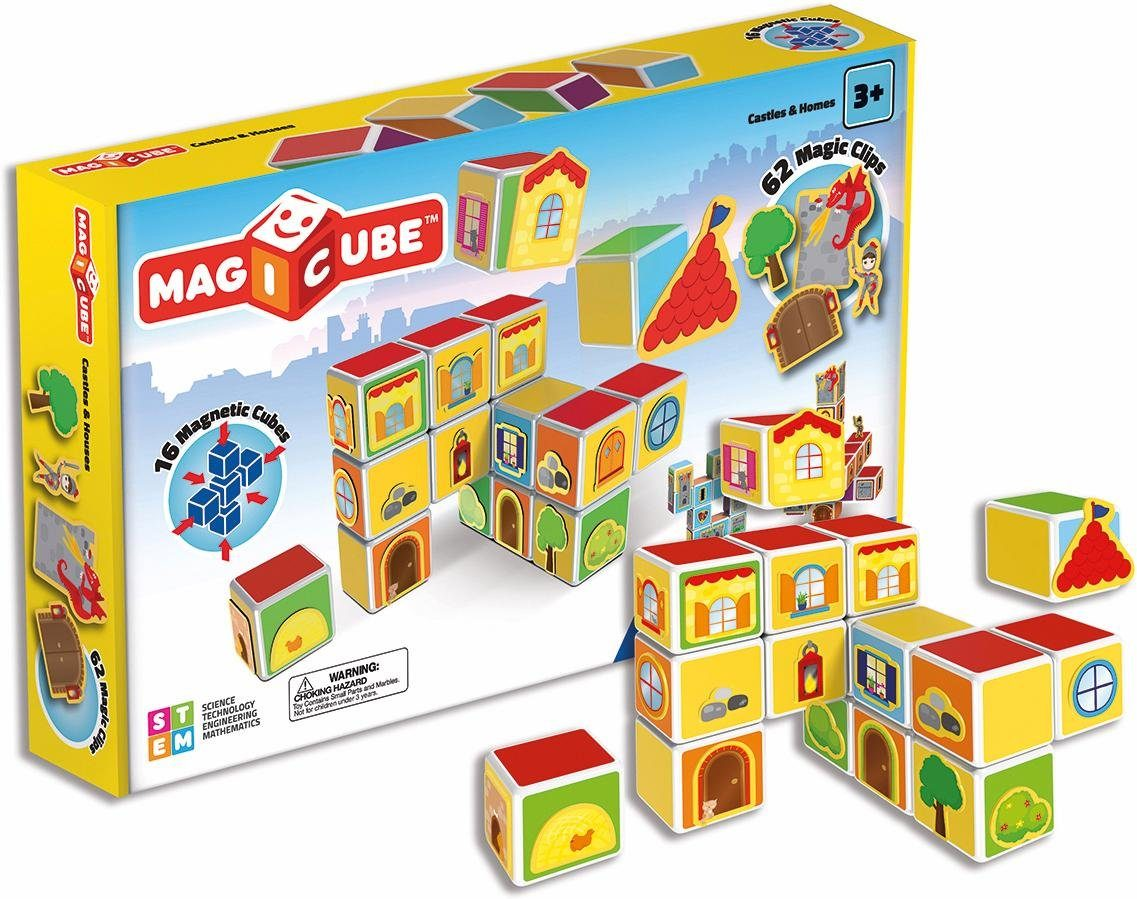 Geomag™ Konstruktionsspielzeug (78-tlg.), »MAGICUBE Castles & Homes«
