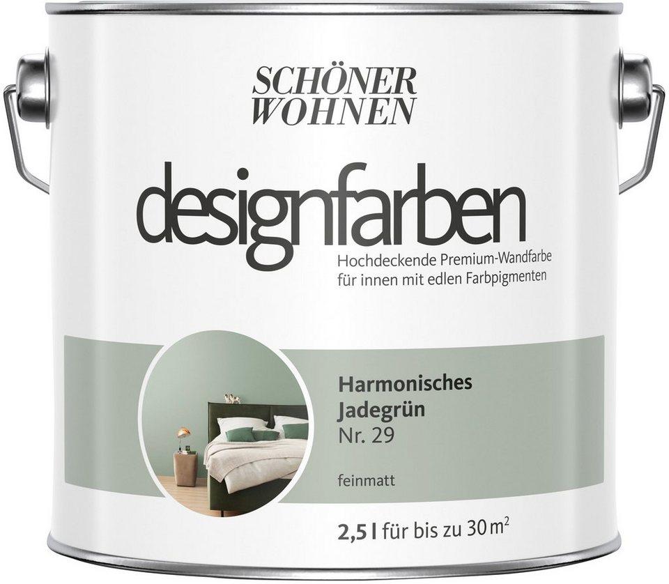 Schoner Wohnen Kollektion Wand Und Deckenfarbe Designfarben Harmonisches Jadegrun Nr 29 Feinmatt 2 5 L Online Kaufen Otto