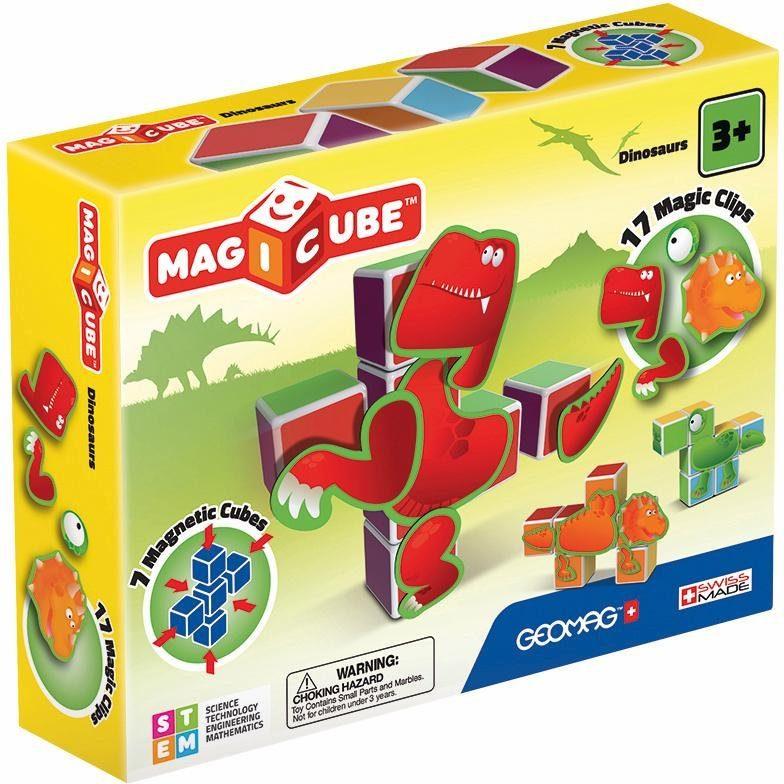 Geomag™ Konstruktionsspielzeug (24-tlg.) »MAGICUBE Dinosaurs«