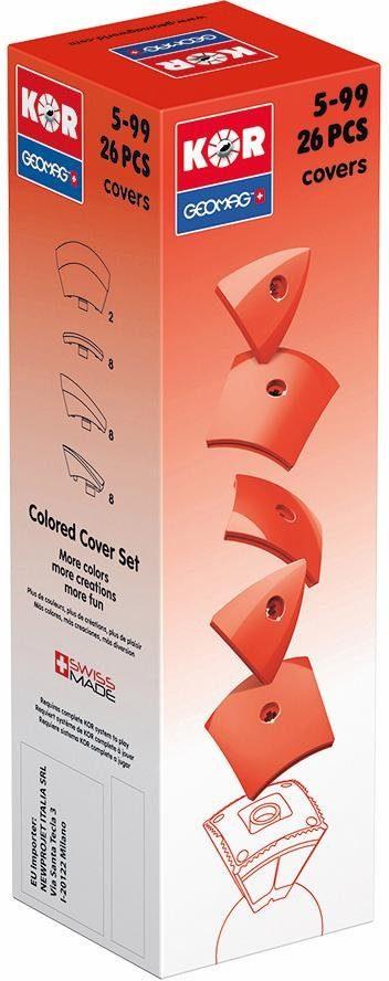 Geomag™ Konstruktionsspielzeug (26-tlg.), »KOR Covers Red«