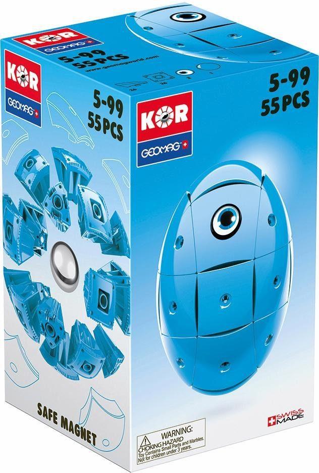 Geomag™ Konstruktionsspielzeug (55-tlg.), »KOR Egg Blue«