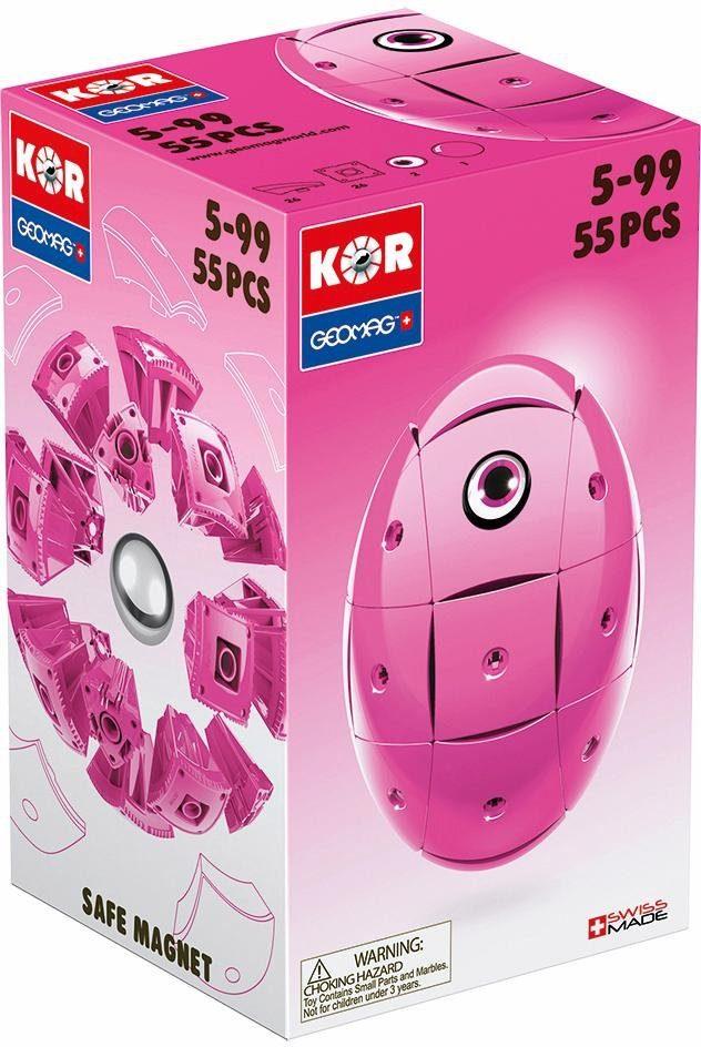 Geomag™ Konstruktionsspielzeug (55-tlg.), »KOR Egg Pink«